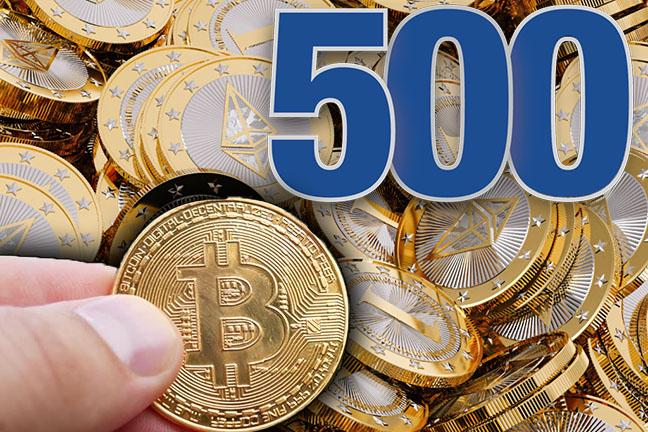 500 ethereum vs 1 bitcoin