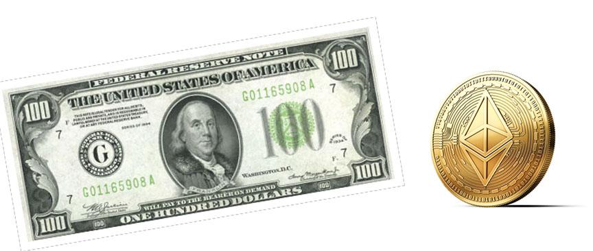 one hundred dollar bill ethereum price prediction