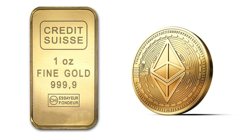 1 oz gold etherum price prediction
